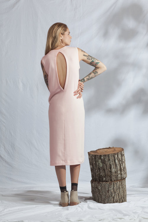 Pillar Dress Dusky Pink | Ethical Fashion Australia | ECO.MONO | Organic Cotton | Melbourne