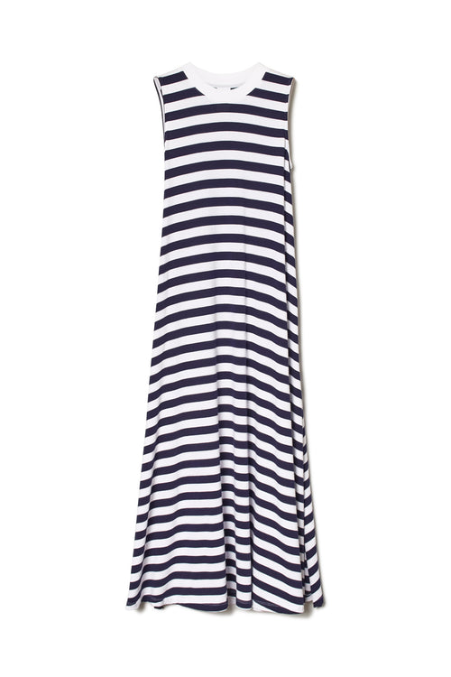 Stripe A-Line Dress | Ethical Clothing Australia | ECO.MONO