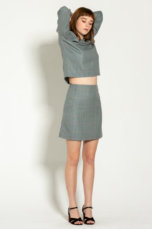 Vintage Wool Mini Skirt