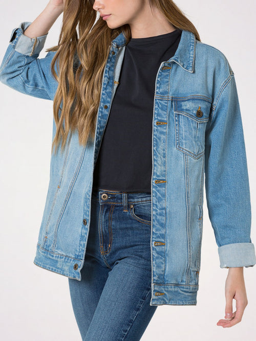 Ava Oversized Denim Jacket | Outland Denim | Premium Denim Jeans