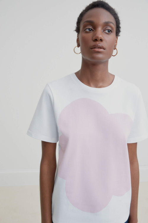 Kowtow Big Flower Tee Pink | Organic Cotton Tee | Ethically Made