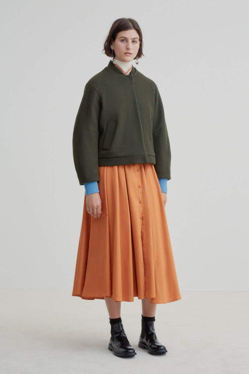 Kowtow Charlie Bomber Jacket - Dark Green | Winter Coats Australia