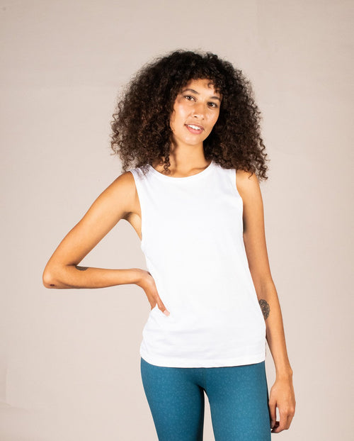 Organic Tank - Cloud | Team Timbuktu | Ethical Activewear Australia