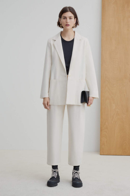 Kowtow Dadat Blazer - Natural | Winter Jacket | Ethically Made | Organic