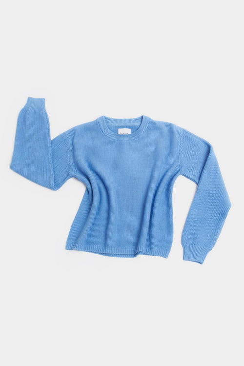 Kowtow Escape Crew Sky Blue | Winter Jumper | Organic Cotton