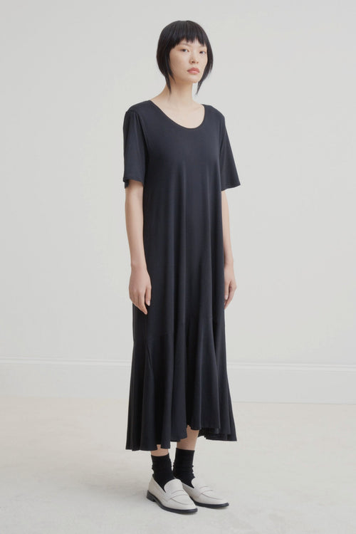 Kowtow Flare Hem Dress Black