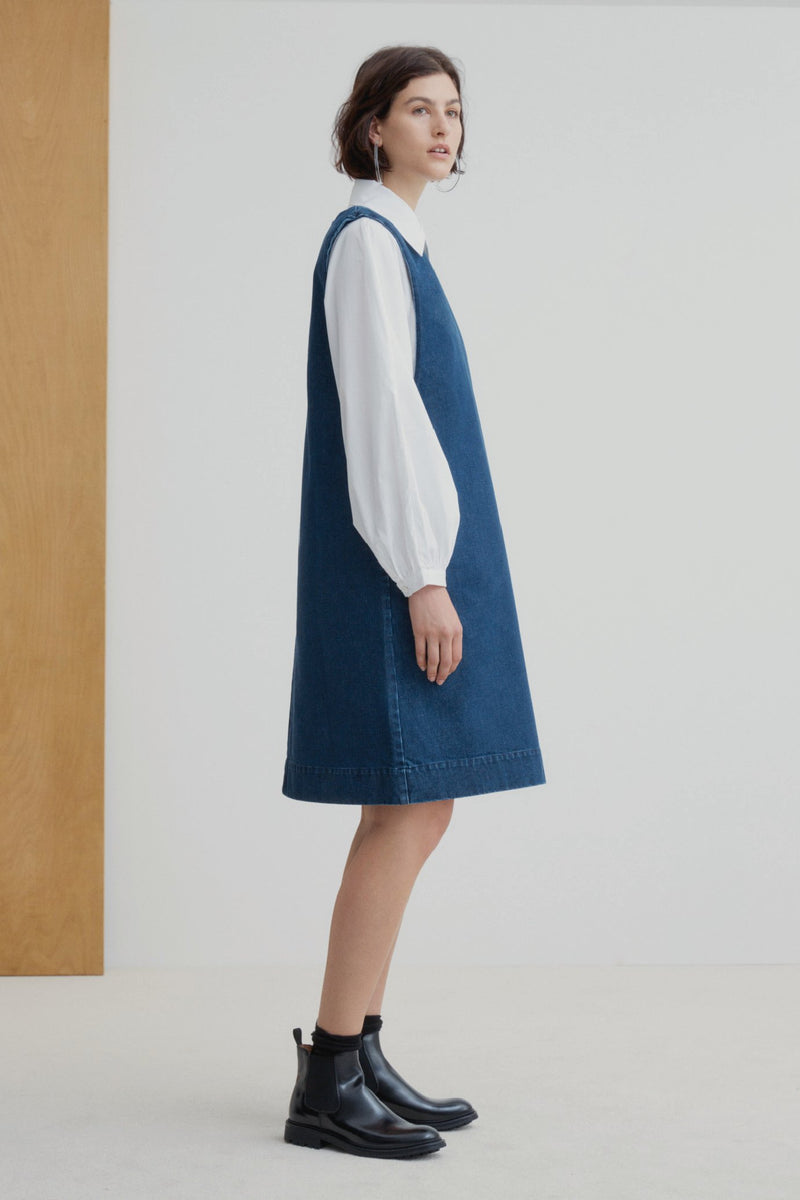 Kowtow Form Dress - Indigo Denim | Ethically Made Dress | Organic Cotton