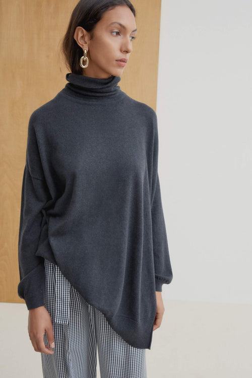 Kowtow Gallery Sweater - Charcoal Marle | Ethical Winter Jumpers