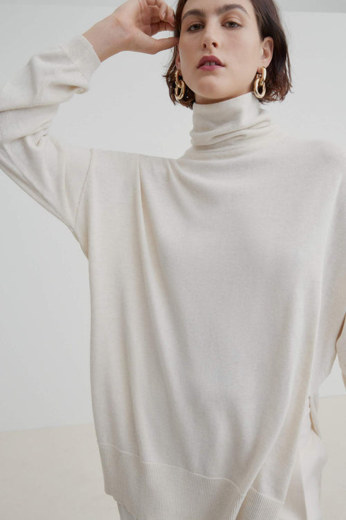 Kowtow Gallery Sweater - Sand Marle | Ethical Winter Jumpers
