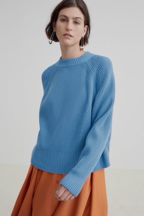 Kowtow Henri Crew Sky Blue | Winter Jumper | Eco Friendly