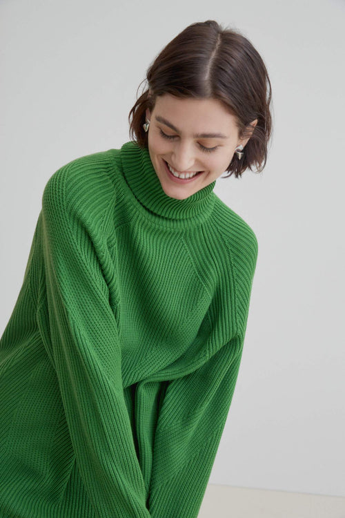 Kowtow Henri Roll Neck Jumper Green | Winter Jumper | Eco Friendly