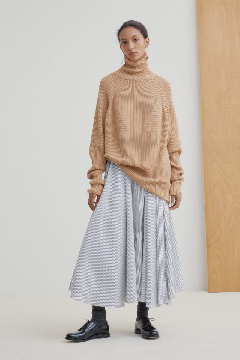 Kowtow Henri Roll Neck Jumper Camel | Winter Jumper | Organic Cotton