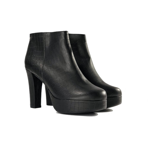 Melissa Vegan Leather Heeled Bootie Black | Vegan Shoes Australia