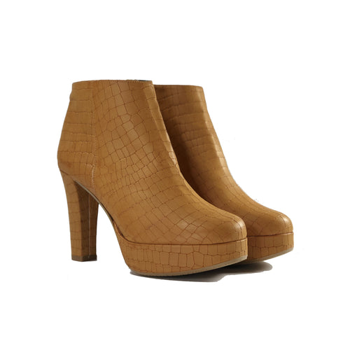 Melissa Vegan Leather Heeled Bootie Tan  | Vegan Shoes Australia