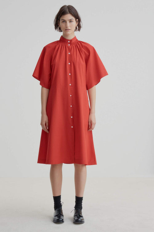Kowtow Observer Dress Red | Ethically Made Dress | Organic Cotton