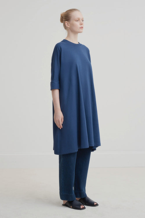 Kowtow Oversized Boxy Dress Navy | Organic Cotton | Basic Tee Dress