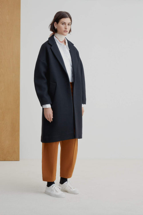 Kowtow Pierre Coat Black | Ethical Winter Coats & Jackets Australia