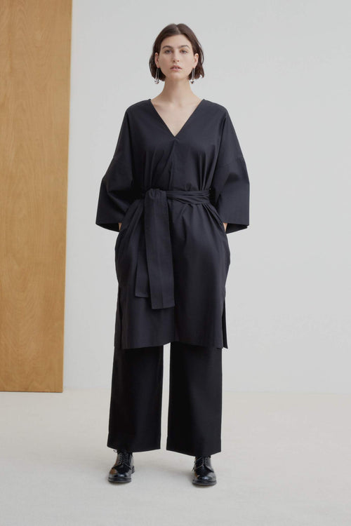 Kowtow Project Dress - Black | Ethical Dresses Australia | Organic