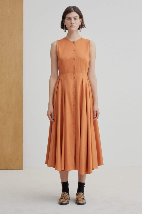 Kowtow Reflect Dress Orange | Ethically Made Dress | Organic Cotton