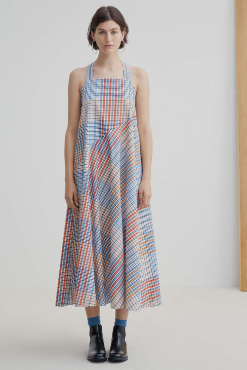 Kowtow Riley Dress Painter Check | Ethically Made Dress | Organic Cotton