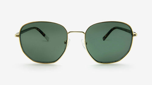 RUDO Gold Polished Metal | Sustainable Sunglasses Australia