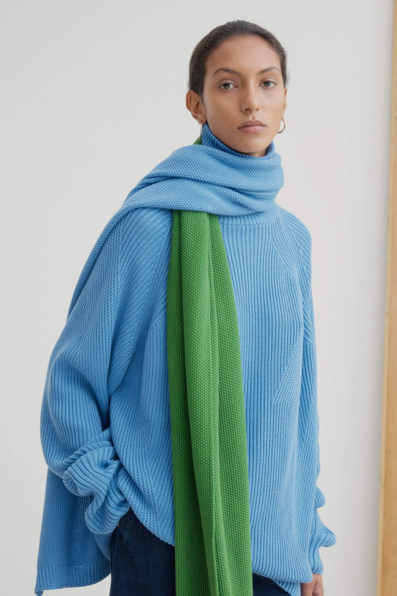 Kowtow Scenery Scarf Green & Blue | Winter Scarf | Winter Accessories