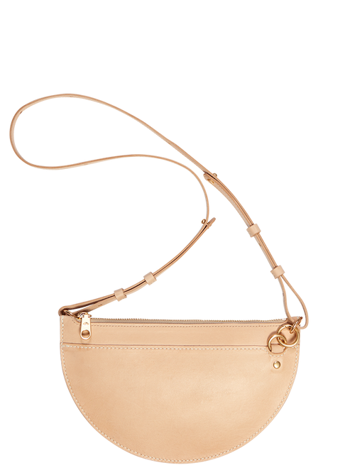 Natural Crescent Moon Bag - Medium | Ethical Bags Australia | ECO.MONO