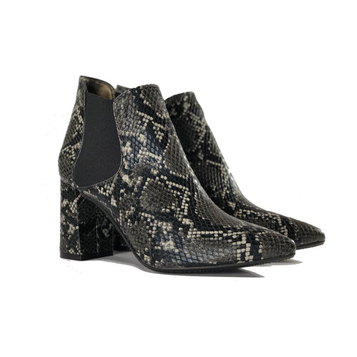 Rachel Vegan Chelsea Bootie Black Snake Pattern  | Vegan Shoes Australia