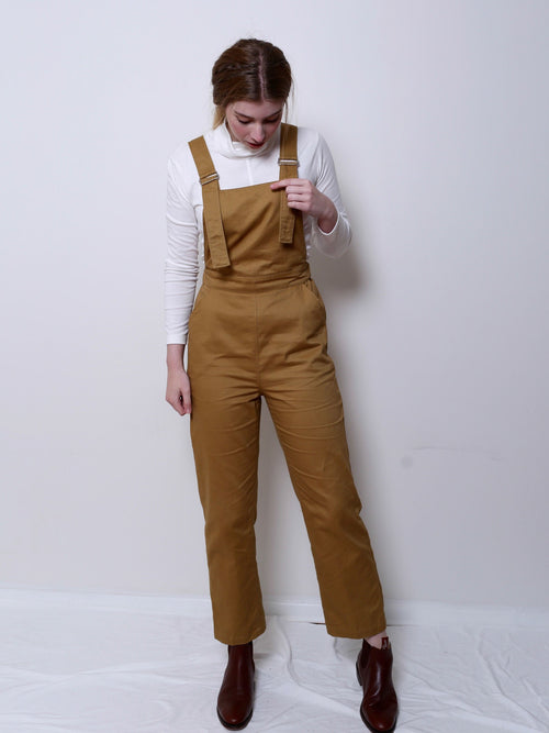 Cotton Overalls - Deep Mustard | Theo Theo Label | Ethical Fashion