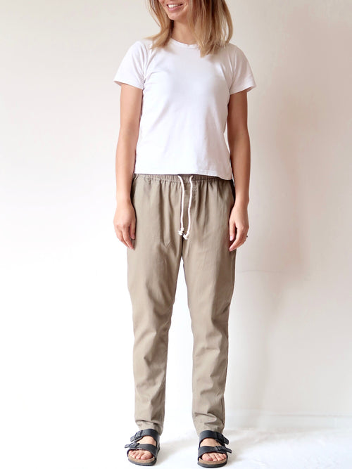 Casual Pants - Khaki | Theo The Label | Ethical Womens Clothing