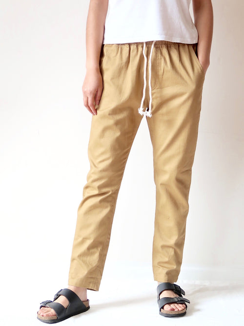 Casual Pants - Mustard | Theo The Label | Ethical Womens Clothing