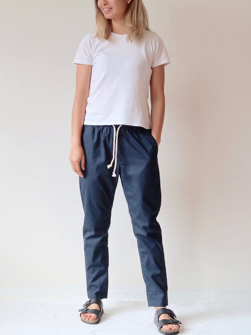 Casual Pants - Navy | Theo The Label | Ethical Womens Clothing