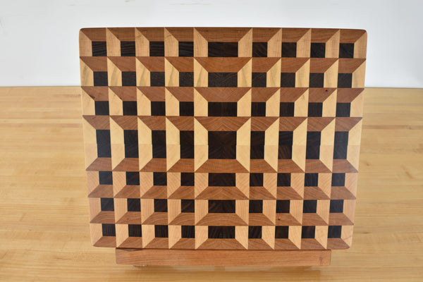 Geometric 3D End grain Butcher blocks