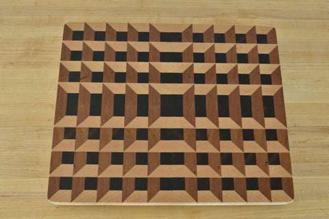 Hive end grain butcher block - Halsey Hardwood