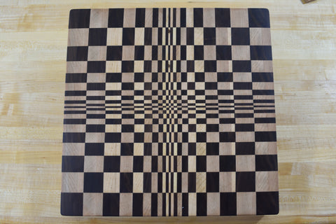 3D Center End Grain Butcher Block