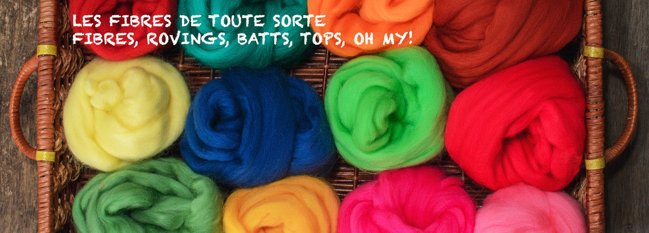 fibres, fibers, wool, rovings, batts, nappes, mèches, laines