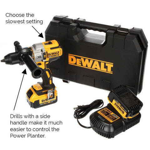 DeWalt drill with side handle