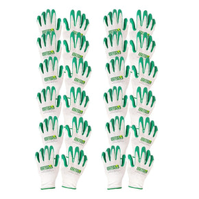 A ONE YEAR SUPPLY OF Machine washable GARDENING GLOVES. 12 pairs of Gloves