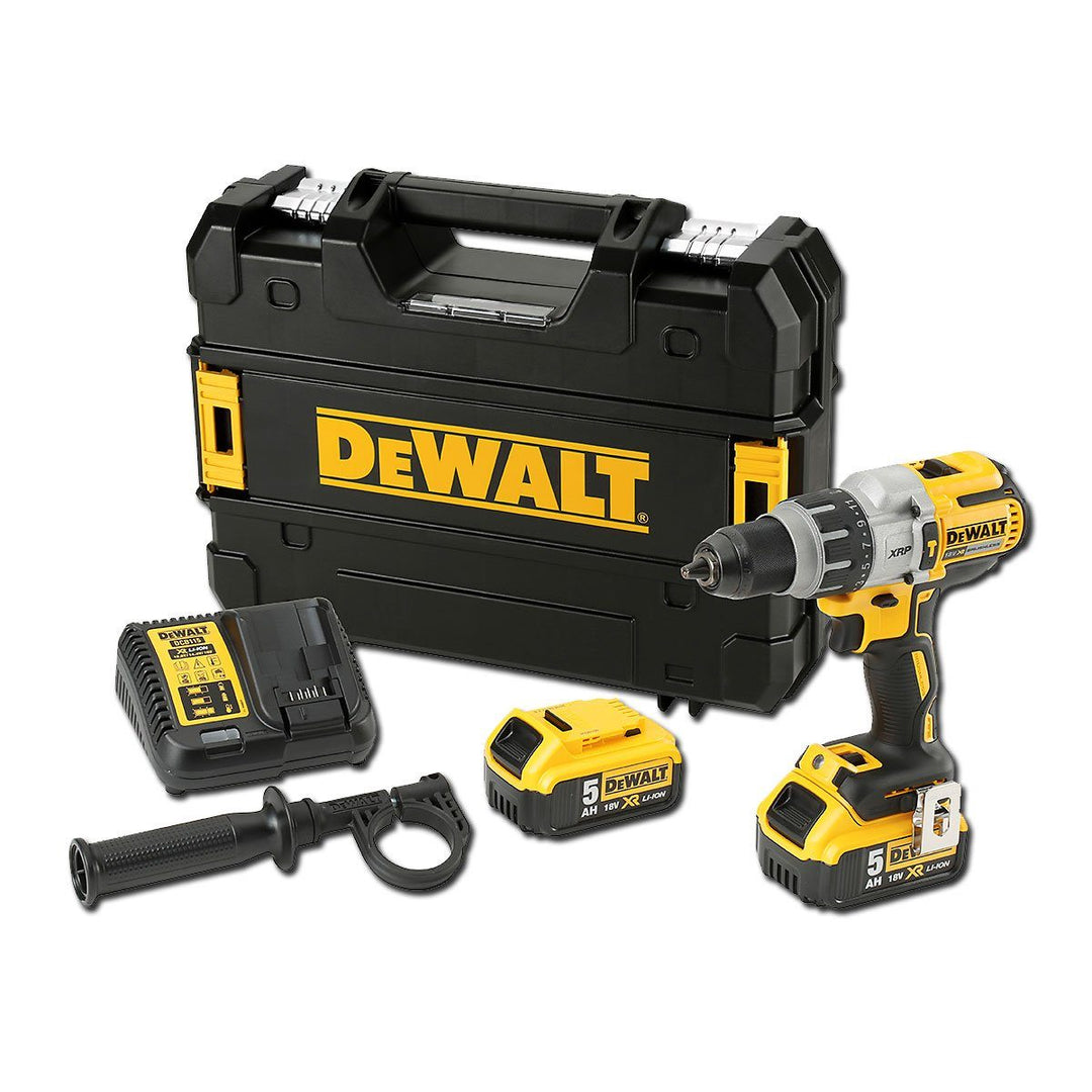 Dewalt 996 Top of the range Cordless Drill Kit - DEWALT's most powerful 18V XR Li­ Ion Brushless XRP hammer drill/driver. Includes side handle and 13mm chuck to fit any of the Power Planter Range