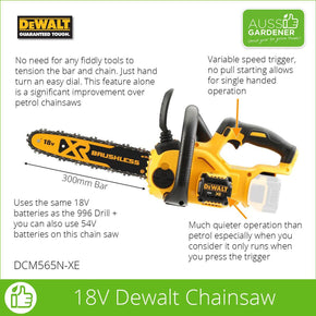 18V XR Li-Ion Brushless Chainsaw  - Bare Unit