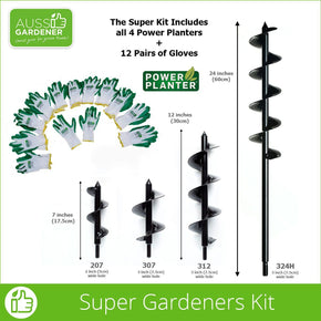 Power Planter Super Gardeners Kit Dimensions - Australian stock. USA made.