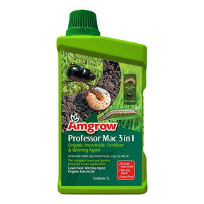 Amgrow Professor Mac 3 in 1 (1 litre concentrate) Insecticide, Fertiliser and Wetting Agent