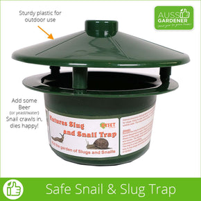 Slug and Snail Trap - No poisons - Snail dies happy!