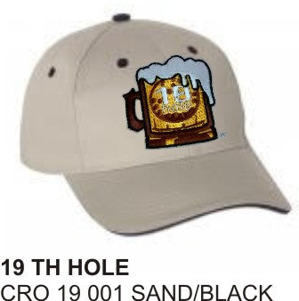 19 TH HOLE -  Win or Lose Hat in SAND and black color - LonsumCro Powered by GolfSwag
