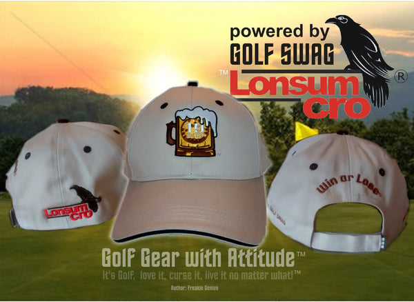 19th Hole Golf Hat by LonsumCro Powered by GolfSwag