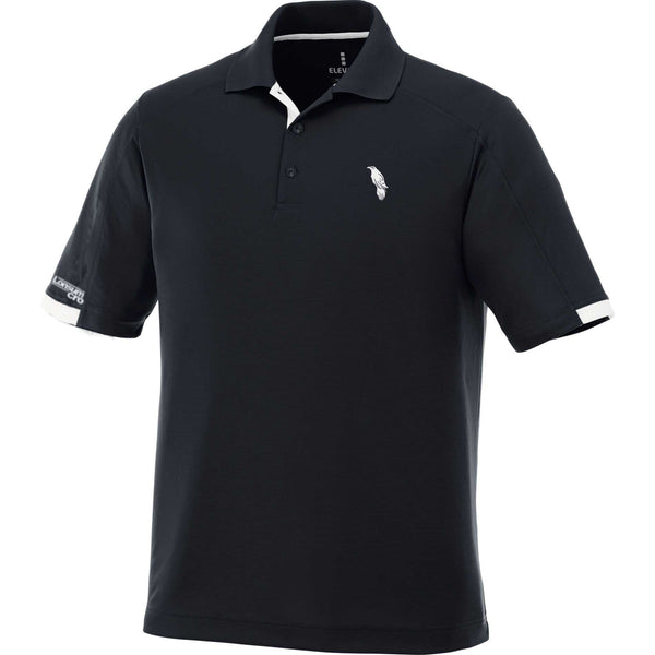 LonsumCRO Men's Golf Shirts in Black and White Details