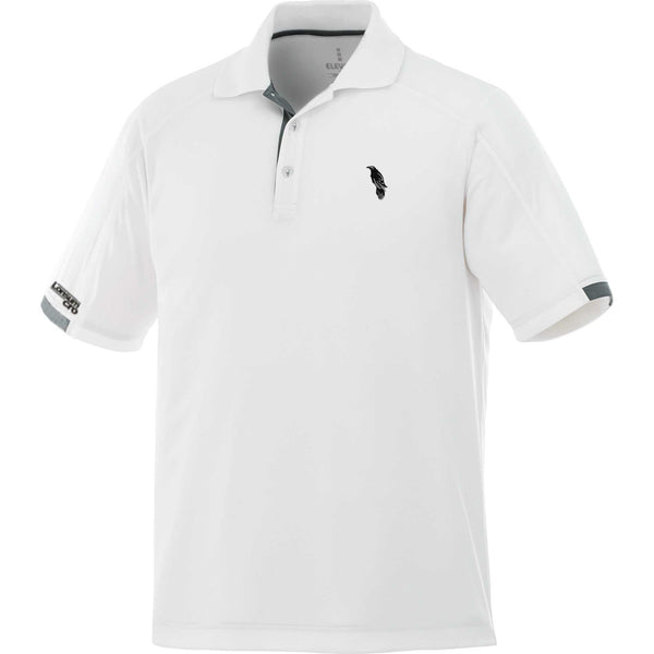 LonsumCRO Men's Golf Shirts in White with Black Details
