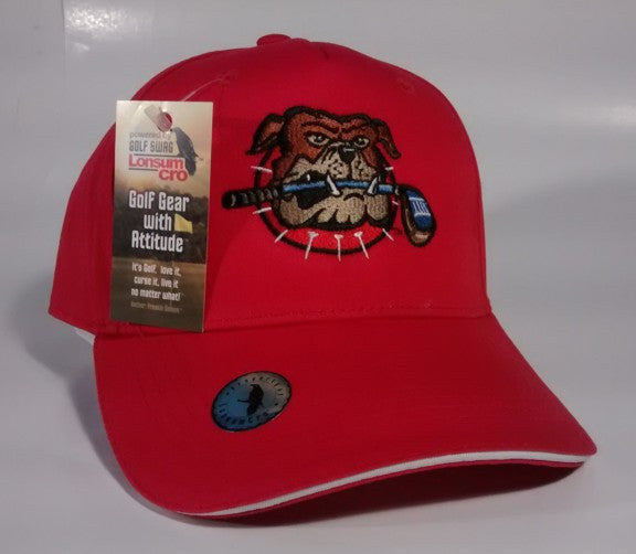 'BIG DAWG'  RED, Golf Hat by LonsumCro Powered by GolfSwag