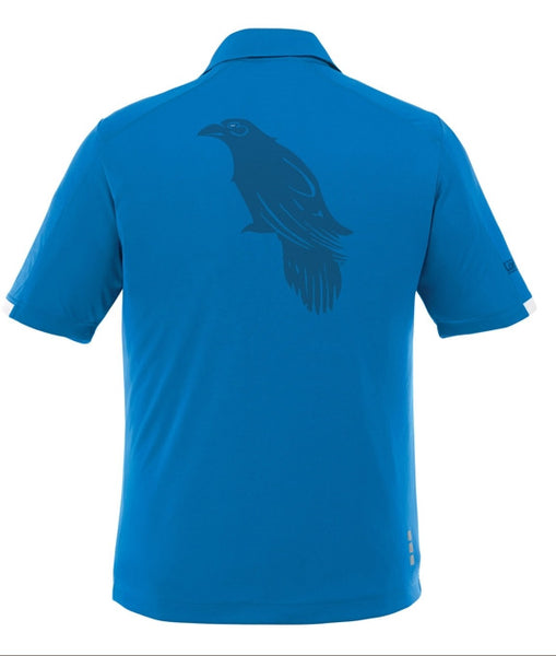 LonsumCRO Golf SwagLine Men's Golf Shirts in Olympic Blue and Deep Blue laser etched Details