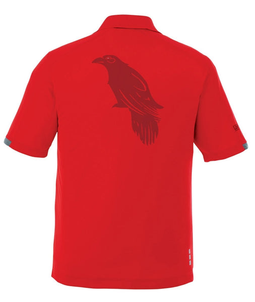 LonsumCRO Golf SwagLine Men's Golf Shirts in Red and Deep Red laser etched Details